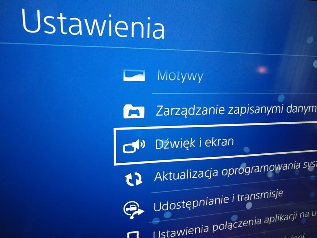 PS4 Ustawienia