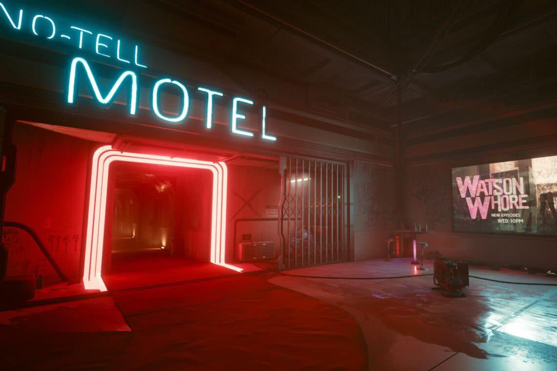 Night City No-Tell Motel Cyberpunk 2077