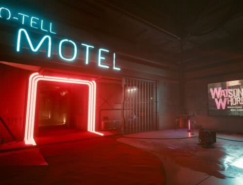 Night City No-Tell Motel Cyberpunk 2077