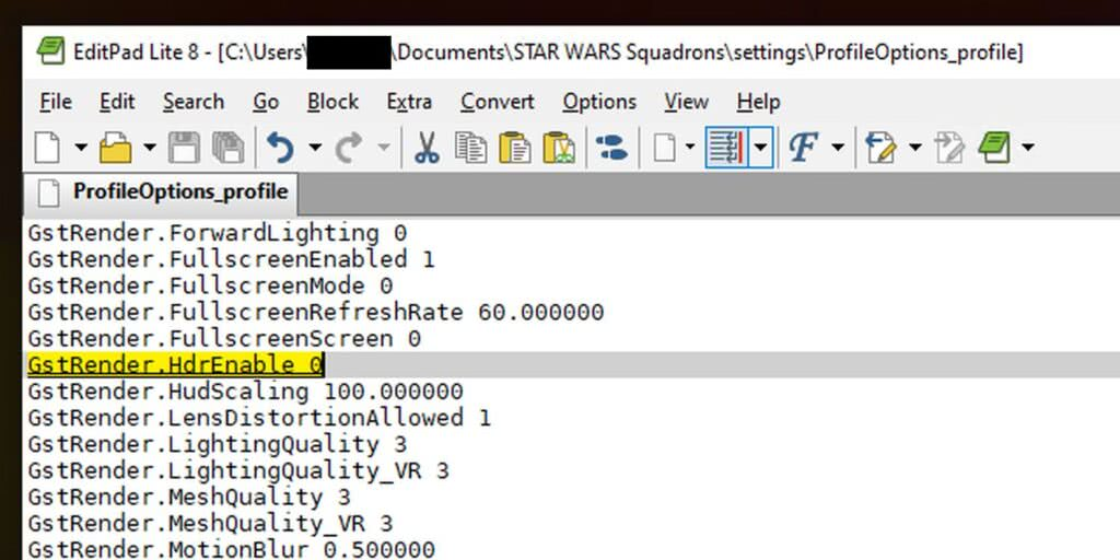 Disable HDR - Star Wars Squadrons PC