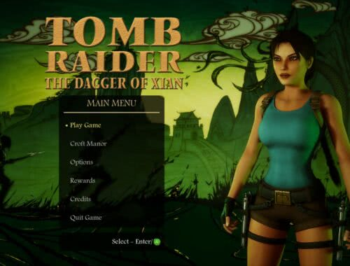 Tomb Raider The Dagger of Xian Menu Screen