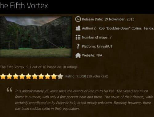 The Fifth Vortex - Unreal Mod